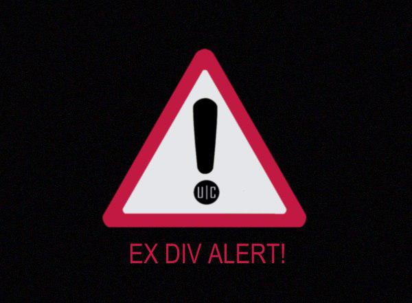 Caution - Following shares ex-div today!